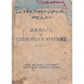 Journal of Ethiopian Studies Vol.IX No.2(June 1971)